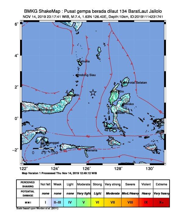 Beberapa Kali Gempa Susulan Terjadi Pascagempa M 7,1 di Maluku Utara