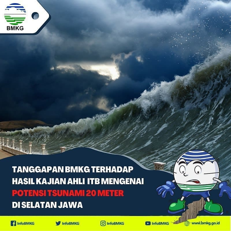 Kajian Ahli ITB : Potensi Tsunami 20 meter di Selatan Jawa