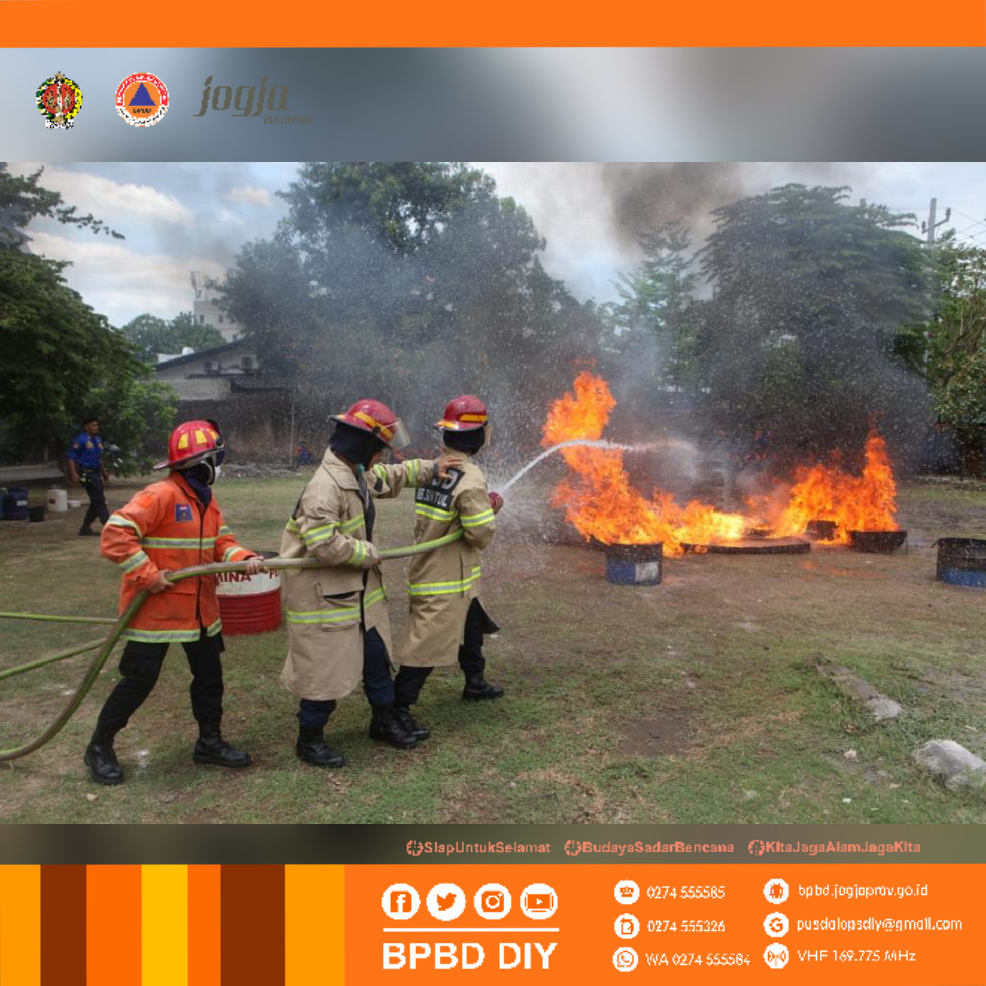 Pelatihan Kesiapsiagaan Gabungan Pemadam Kebakaran se-DIY tahun 2021